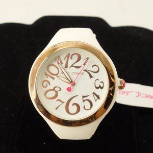 NWT Betsey Johnson White Silicone Watch